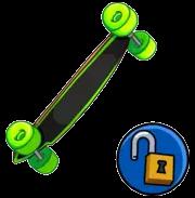 Longboard verde neon item