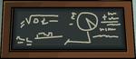 School chalkboard sun