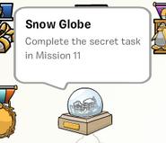 Snow globe stamp book