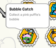 Bubble catch stamp book