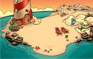 La Playa durante la Busqueda del Fuego