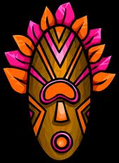 Pink Tiki Mask
