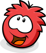 Red Puffle Happy