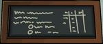 School chalkboard mon