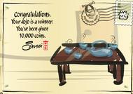 Dojo Contest 2nd Place postcard