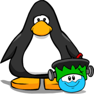 Puffle Hats Franken Hat ID 39 player card