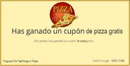 Cupón de Pizza