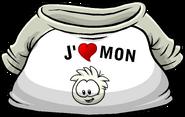 I Heart My White Puffle T-Shirt icon fr