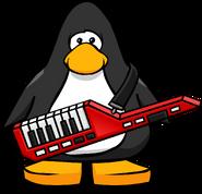 Keytar from a Player Card
