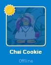 Chai cookie en la lista de amigos
