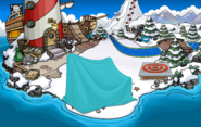 Fiesta Isla de Club Penguin Playa antes