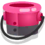 Ink or Swim pink bucket icon