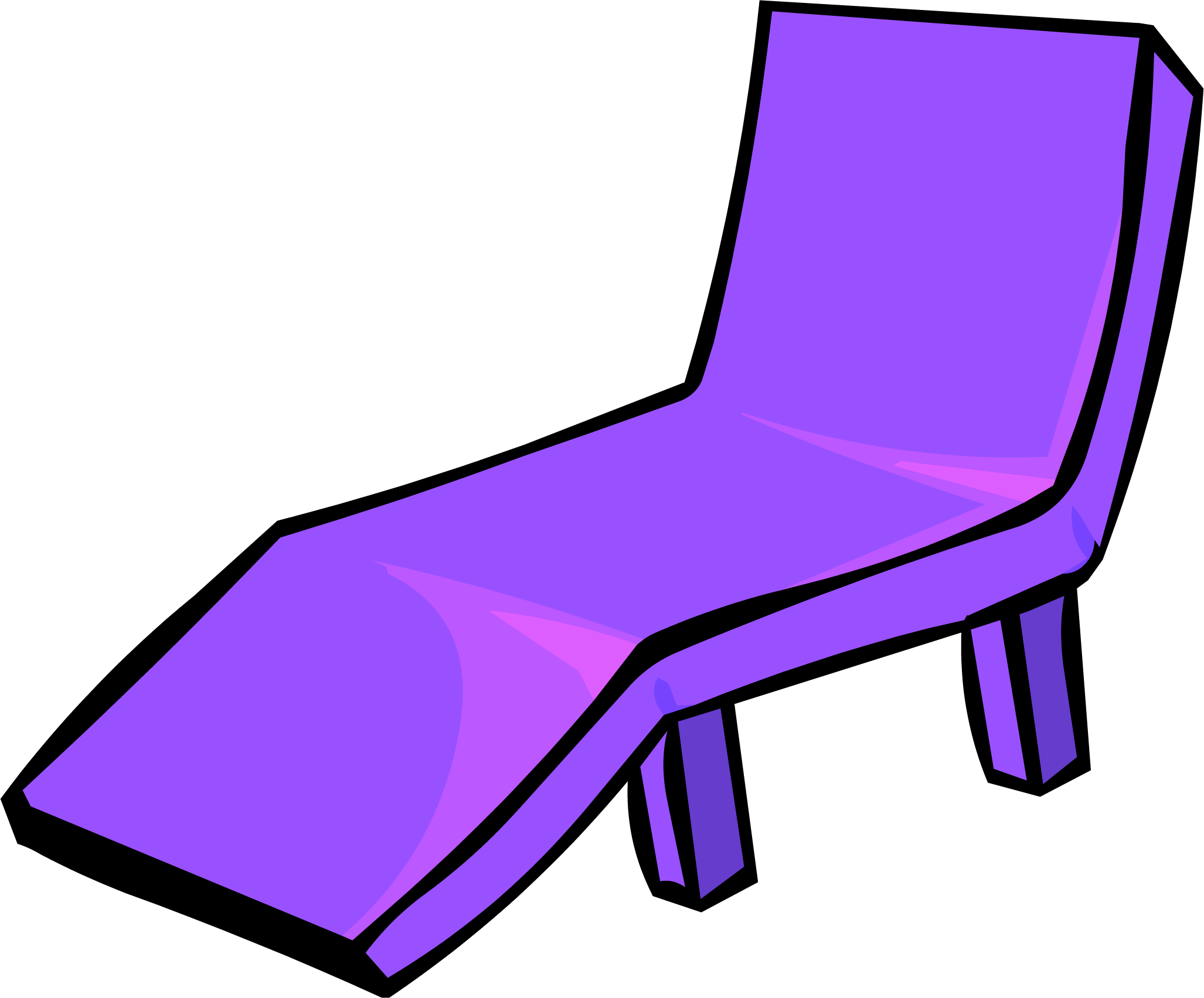 Image Purple Plastic Lawn Chair PNG Club Penguin Wiki