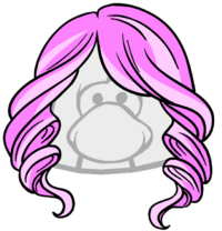 Cabello Rosa Chicle icono