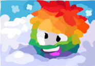 Rainbow Puffle Painting