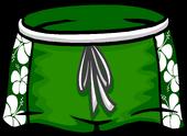 Green Hawaiian Shorts