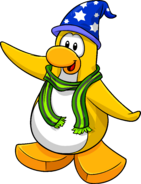 Party at my Igloo postcard penguin