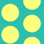 Fabric Dots sun icon
