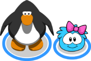 Pink Bow (Puffle Hat) In-Game