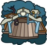 White Puffle Tree House icon