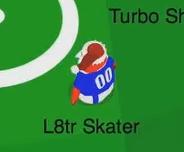 L8tr Skater jugando Fútbol-santa