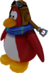Sled Racer Penguin Model Red