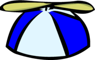 Blue propeller cap old icon
