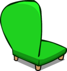 Green Plush Chair sprite 006