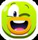 Pin de Emoji Guiño Icono