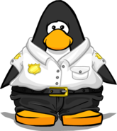Security Guard Uniform on Player Card