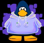 Cangurito de Puffito Violeta tarjeta
