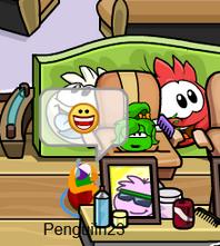 Green Puffle haircut!
