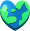 Emoji Earth Heart