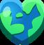Emoji Earth Heart