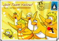 Join Team Yellow postcard