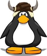 Caveguin Helmet from a Player Card