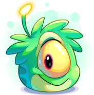 Green Alien Puffle