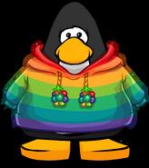 Rainbow O'berry Hoodie on a Player Card