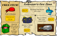 Rockhopper's Rare Items December 2006