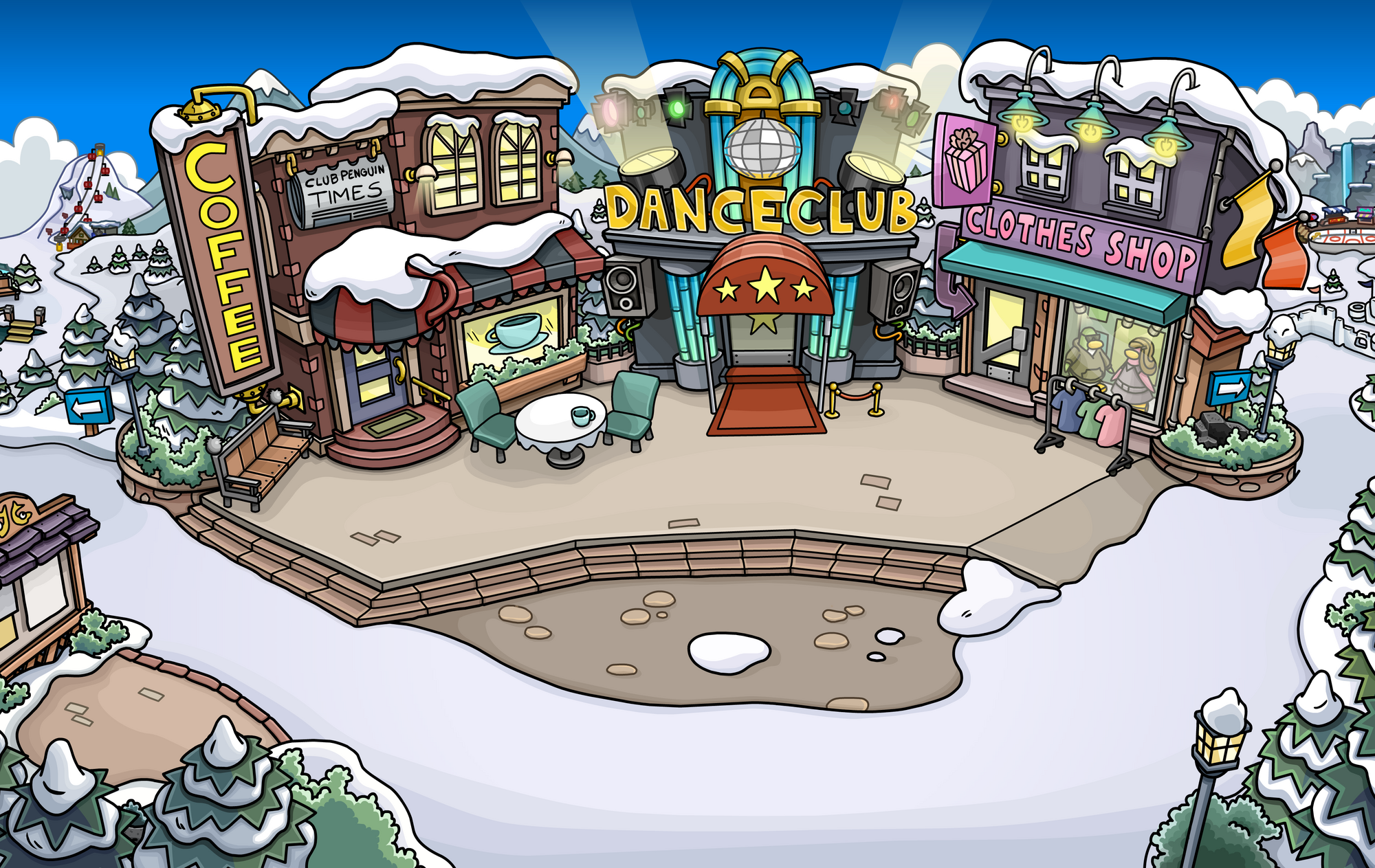 Town Center Club Penguin Wiki Fandom Powered By Wikia