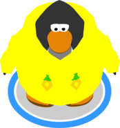 Yellow O'berry Hoodie in-game