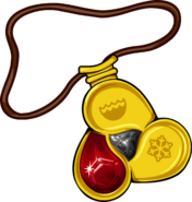 Amulet icon fire gem