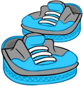 Blue Skater Shoes