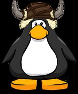 Casco de Pingüino de las Cavernas tarjeta