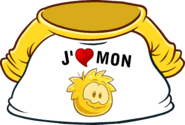 I Heart My Gold Puffle T-Shirt icon fr