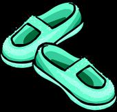 Sparkly Sea Foam Slippers icon