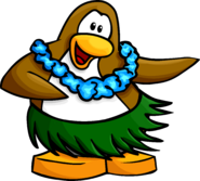 Aloha postcard penguin