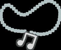 Colgante con Nota Musical icono