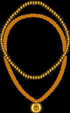 Collar con Puffito de Oro icono