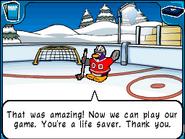 Goalie life saver